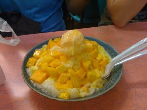 mango shaved ice - taipei
