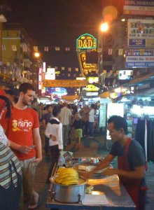 pancake stand at khao san road