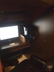 Tokyo Internet Cafe cubicle