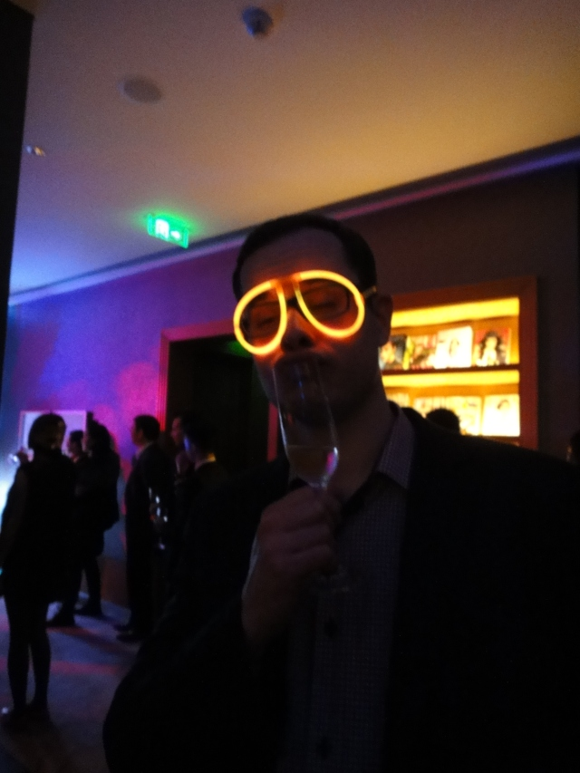 Glow-stick glasses crew