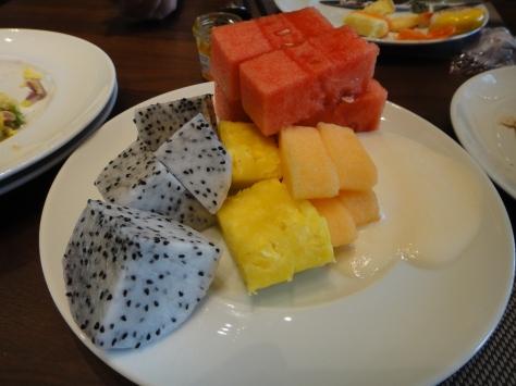 Mountain of fruit & yougurt